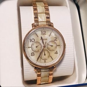 FOSSIL NIB Jacqueline Rose Gold Watch NIB♥️